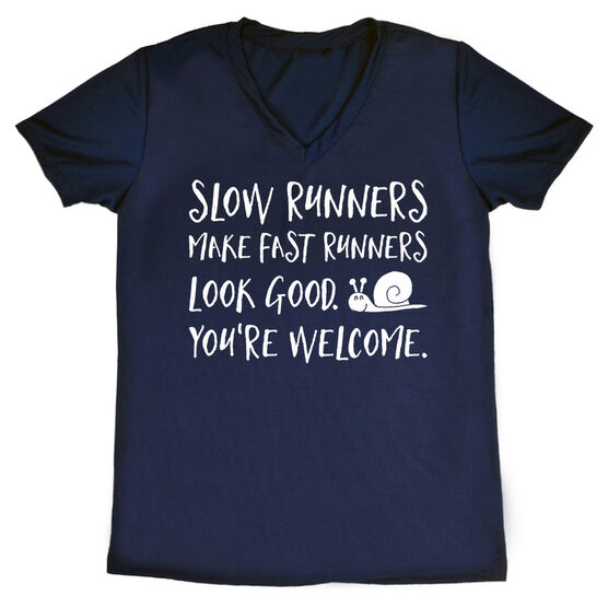 Women's Running Short Sleeve Tech Tee - Slow Runners