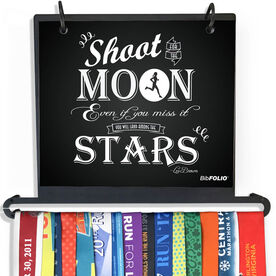 BibFOLIO Plus Race Bib and Medal Display - Shoot For The Moon