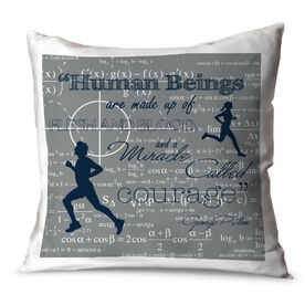 Running Throw Pillow Vintage Human Beings Are Made Up Of