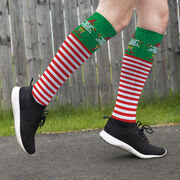 Running Printed Knee-High Socks - Running's My Favorite