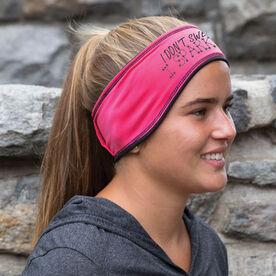 Running Reversible Performance Headband I Don't Sweat I Sparkle
