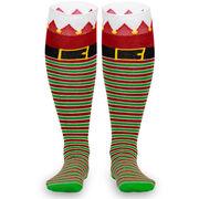 Woven Knee High Socks - Santa's Elf