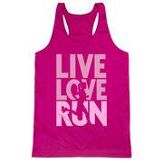 Women's Racerback Performance Tank Top - Live Love Run Silhouette
