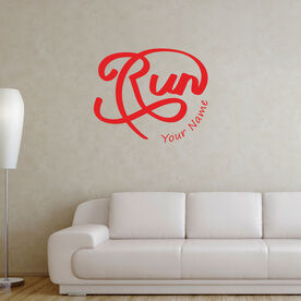 Personalized Run Script Removable GoneForARunGraphix Gone for a Run Wall Decal