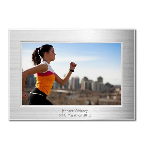 Engraved Running Frame Silver 4 x 6