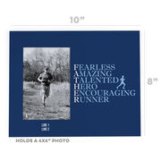 Running Photo Frame - Father Words