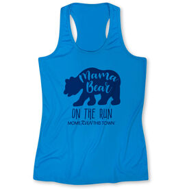 Women's Performance Tank Top - Moms Run This Town Mama Bear On The Run