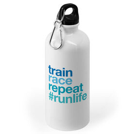 Running 20 oz. Stainless Steel Water Bottle - Train Race Repeat