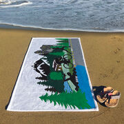Triathlon Premium Beach Towel - Tri Country