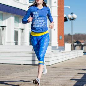 Running Performance Capris With Zipper Pocket- Run With Unicorns