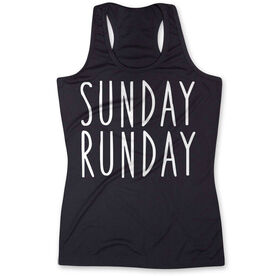 Women's Performance Tank Top - Sunday Runday