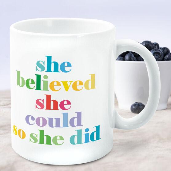 Running Coffee Mug - She Believed She Could So She Did