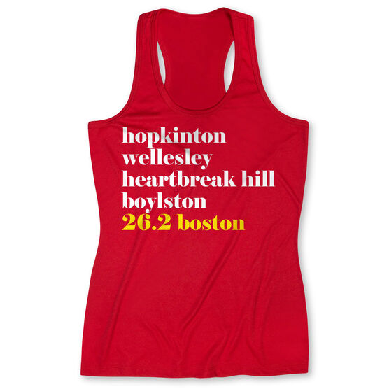 Women's Performance Tank Top - Run Mantra - Boston