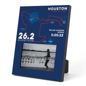 Running Photo Frame - Personalized Houston Map