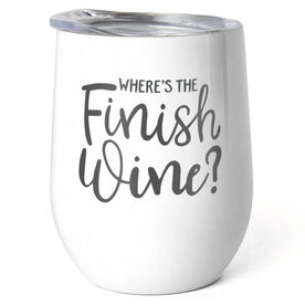 Running Stainless Wine Tumbler - Where's The Finsh Wine?