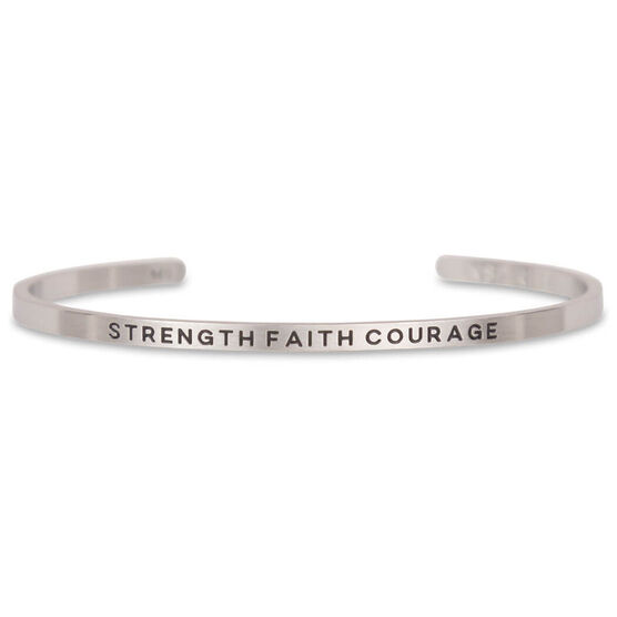 InspireME Cuff Bracelet - Strength Faith Courage