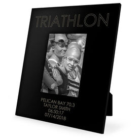 Triathlon Engraved Picture Frame - Triathlon