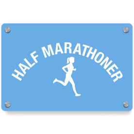 Running Metal Wall Art Panel - Half Marathoner Girl
