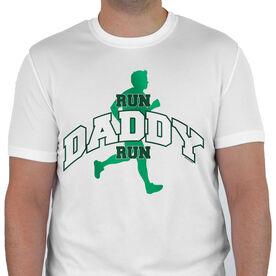 Men's Running Customized Short Sleeve Tech Tee Run Daddy Run (Silhouette)