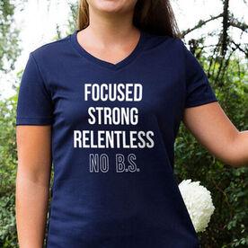 Women's Short Sleeve Tech Tee - Focused & Strong