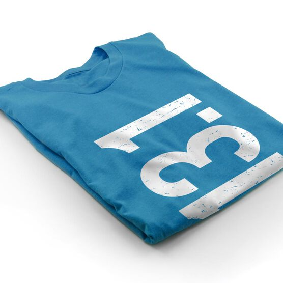 Running Short Sleeve T-Shirt - 13.1 Half Marathon Vertical