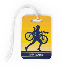 Triathlon Bag/Luggage Tag - Personalized Male Triathlete