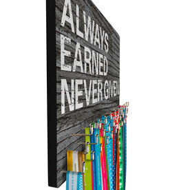 Running Large Hooked on Medals Hanger - Always Earned Never Given