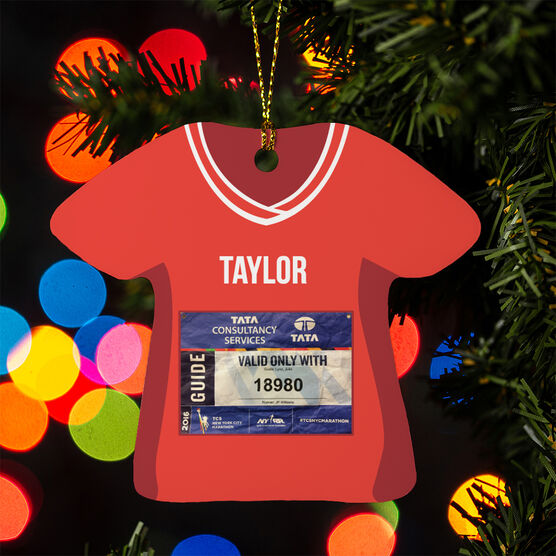 Running Ornament - Your Race Bib Shirt