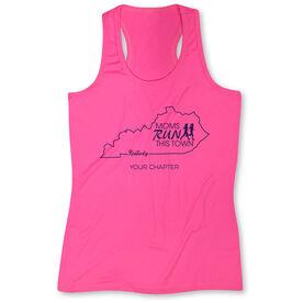 Women's Performance Tank Top - Moms Run This Town Kentucky Runner