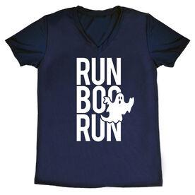 Women's Running Short Sleeve Tech Tee - Run Boo Run