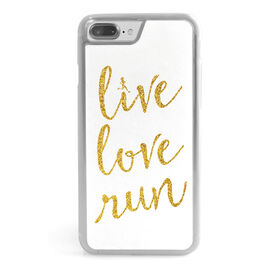 Running iPhone® Case - Live Love Run Faux Glitter