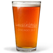 Running 16 oz Beer Pint Glass - Chicago Sketch