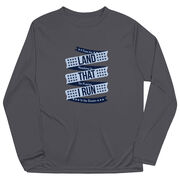 Men's Running Long Sleeve Tech Tee - Land That I Run