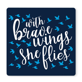 "Running 12"" X 12"" Removable Wall Tile - With Brave Wings She Flies"