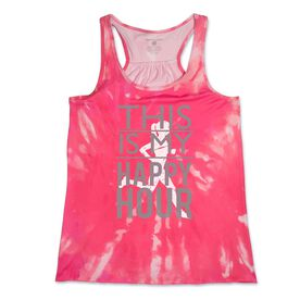 RunTechnology® Performance Tank Top - This Is My Happy Hour