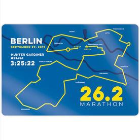 """Running 18"""" X 12"""" Wall Art - Berlin 26.2 Route"""