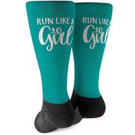 Running Printed Mid-Calf Socks - Run Like A Girl