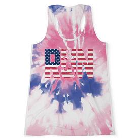 Women's Performance Tank Top - Run Girl USA Tie-Dye