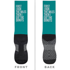 Running Printed Mid-Calf Socks - Then I Eat The Donuts