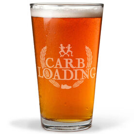 Carb Loading 16 oz Beer Pint Glass