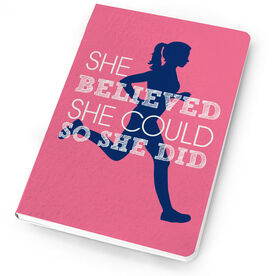 Running Notebook - She Believed She Could So She Did (Silhouette)
