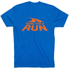 Running Short Sleeve T-Shirt - Gone For a Run Logo (Orange)