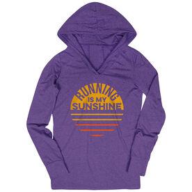 Women's Running Lightweight Performance Hoodie - Running is My Sunshine