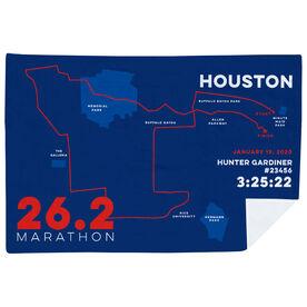 Running Premium Blanket - Personalized Houston Map