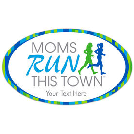 Running Car Magnet - Moms Run This Town Logo