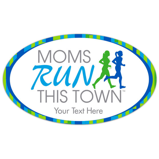 Running Car Magnet - Moms Run This Town Logo