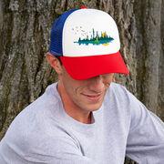 Running Trucker Hat - Runner Reflection