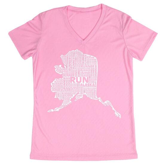 Women's Running Short Sleeve Tech Tee Alaska State Runner