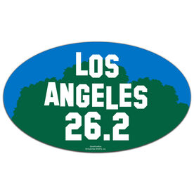 Los Angeles 26.2 Oval Car Magnet
