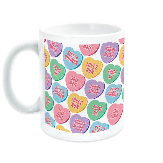 Running Coffee Mug - Love to Run (Candy Hearts)